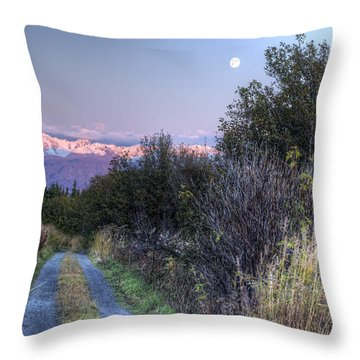 Throw Pillow featuring the photograph Rising Moon by Michele Cornelius