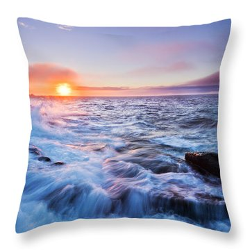 Rising Tide Throw Pillow by Mircea Costina Photography
