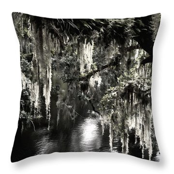 River Branch Throw Pillow by Steven Sparks
