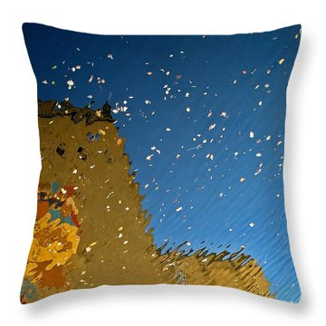 Throw Pillow featuring the photograph River Crossing Border Crossing by Andy Prendy