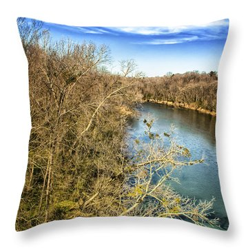 Throw Pillow featuring the photograph River Crossing Virginia by Jim Moore