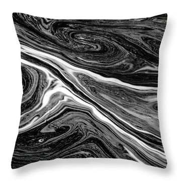 River Foam Throw Pillow