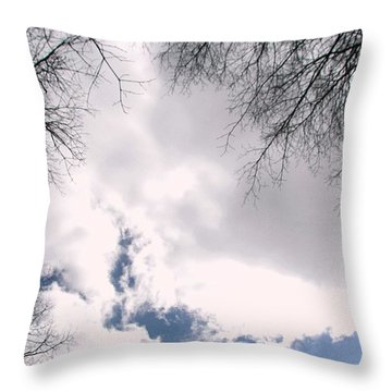 Throw Pillow featuring the photograph River In The Sky by Pamela Hyde Wilson