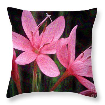 River Lily Throw Pillow