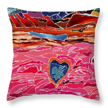 River Of Passion Throw Pillow
