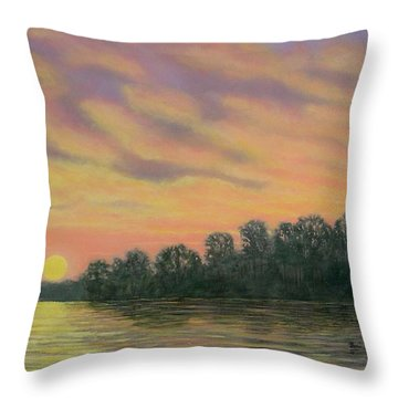 River Reflections Throw Pillow by Kathleen McDermott