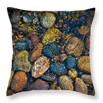 River Rock Throw Pillow by Karol Livote