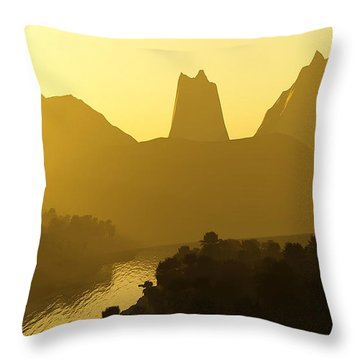River Valley Throw Pillow by Svetlana Sewell