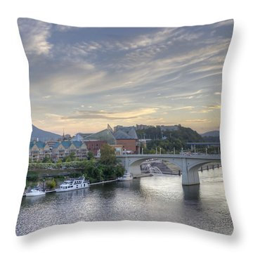 Riverfront View Throw Pillow