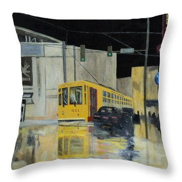 Rivermarket Streetcar 411 Throw Pillow
