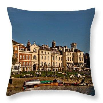 Riverside Throw Pillow by Dawn OConnor