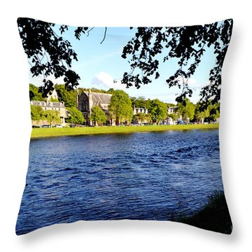 Riverside Throw Pillow by Pravine Chester