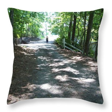 Throw Pillow featuring the photograph Road Less Traveled by Lou Ann Bagnall