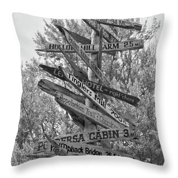 Road Map Throw Pillow