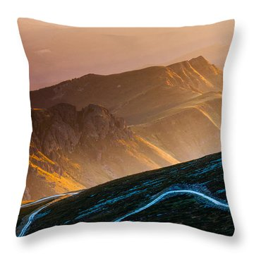 Road To Middle Earth Throw Pillow by Evgeni Dinev