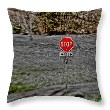 Road To Perdition 2 Throw Pillow by Dan Stone