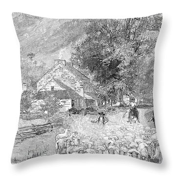 Road Travel Throw Pillow by Granger