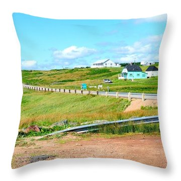 Throw Pillow featuring the photograph Road Trip In Cape Breton Nova Scotia by Joe  Ng