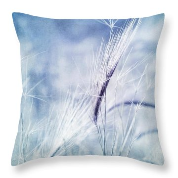 Roadside Blues Throw Pillow by Priska Wettstein