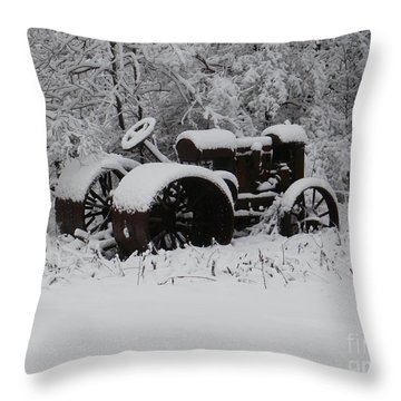 Throw Pillow featuring the photograph Robed In White by Christian Mattison