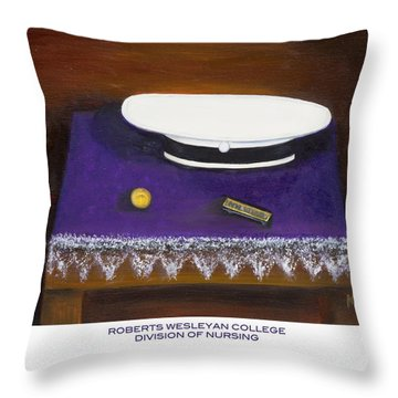 Roberts Wesleyan College Division Of Nursing Throw Pillow by Marlyn Boyd