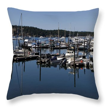 Roche Harbor Reflected Throw Pillow