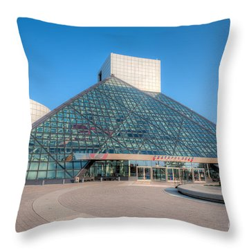Rock And Roll Hall Of Fame II Throw Pillow by Clarence Holmes