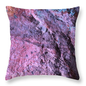 Throw Pillow featuring the photograph Rock Art 8 by M Diane Bonaparte