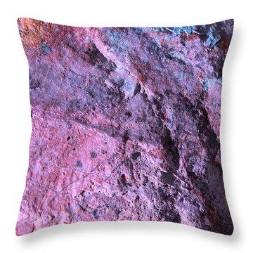 Rock Art 8 Throw Pillow by M Diane Bonaparte