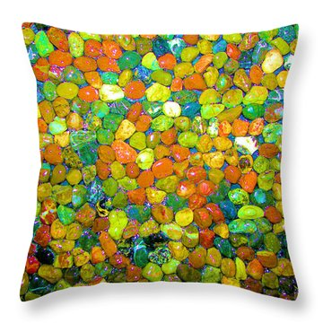 Throw Pillow featuring the photograph Rock Candy by Carolyn Repka