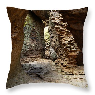 Throw Pillow featuring the photograph Rock Chamber by Vicki Pelham