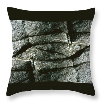 Rock Eye Of Ogunquit Throw Pillow by Nancy Griswold