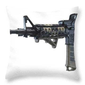 Rock River Arms Ar-15 Rifle Throw Pillow by Terry Moore