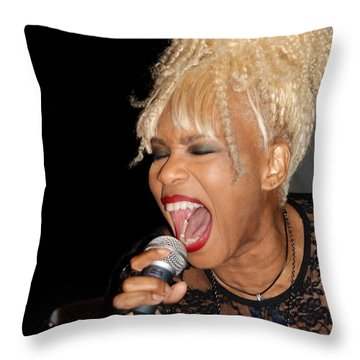 Rock Star Baby Jean Kennedy Of Mother's Finest Throw Pillow by Benanne Stiens