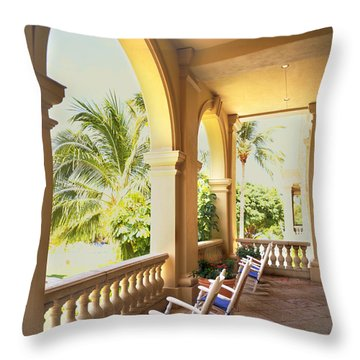 Rockers Throw Pillow by Rich Franco