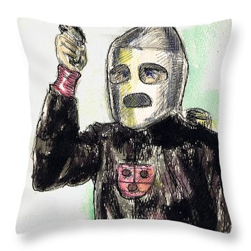 Rocket Man Throw Pillow by Mel Thompson