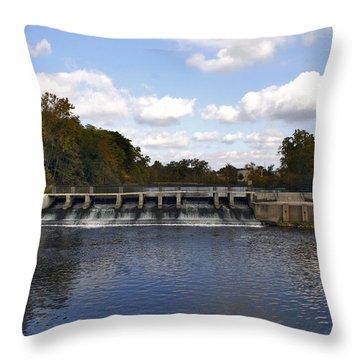 Rockford Dam Throw Pillow