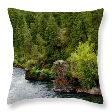 Throw Pillow featuring the photograph Rockin The Spokane River by Ben Upham III