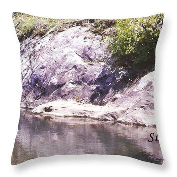 Rocks On The Bank Throw Pillow