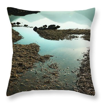 Rocks On The Beach Throw Pillow by Svetlana Sewell