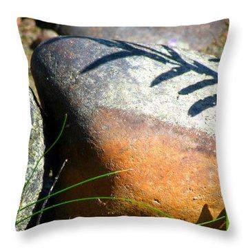 Rocks Tattoo Throw Pillow by France Laliberte
