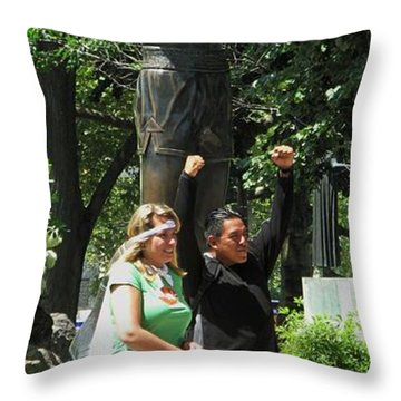 Rocky In Philadelphia Throw Pillow by Ian  MacDonald