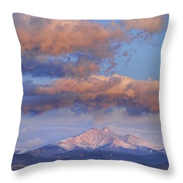 Rocky Mountain Sunrise Throw Pillow by James BO  Insogna