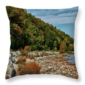 Throw Pillow featuring the photograph Rocky Shores by Rachel Cohen
