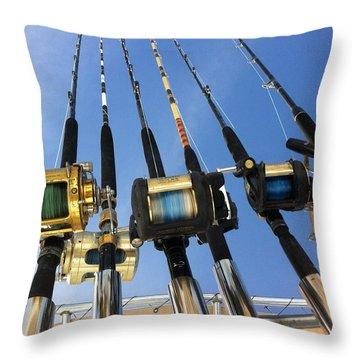 Rods Throw Pillow