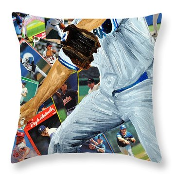 Roger Clemons Throw Pillow by Michael Lee