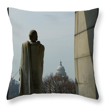 Roger Williams And His Capitol Throw Pillow