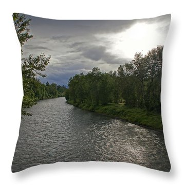 Rogue River In May Throw Pillow