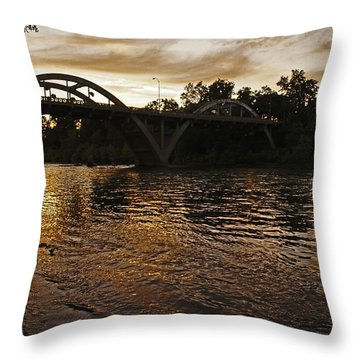 Rogue River Sunset Throw Pillow