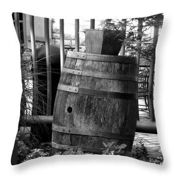 Roll Out The Barrel Throw Pillow by Shelley Blair